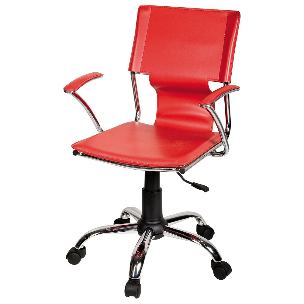 Silla A Gas Con ApoyaBrazos Poly-Fashion Rojo