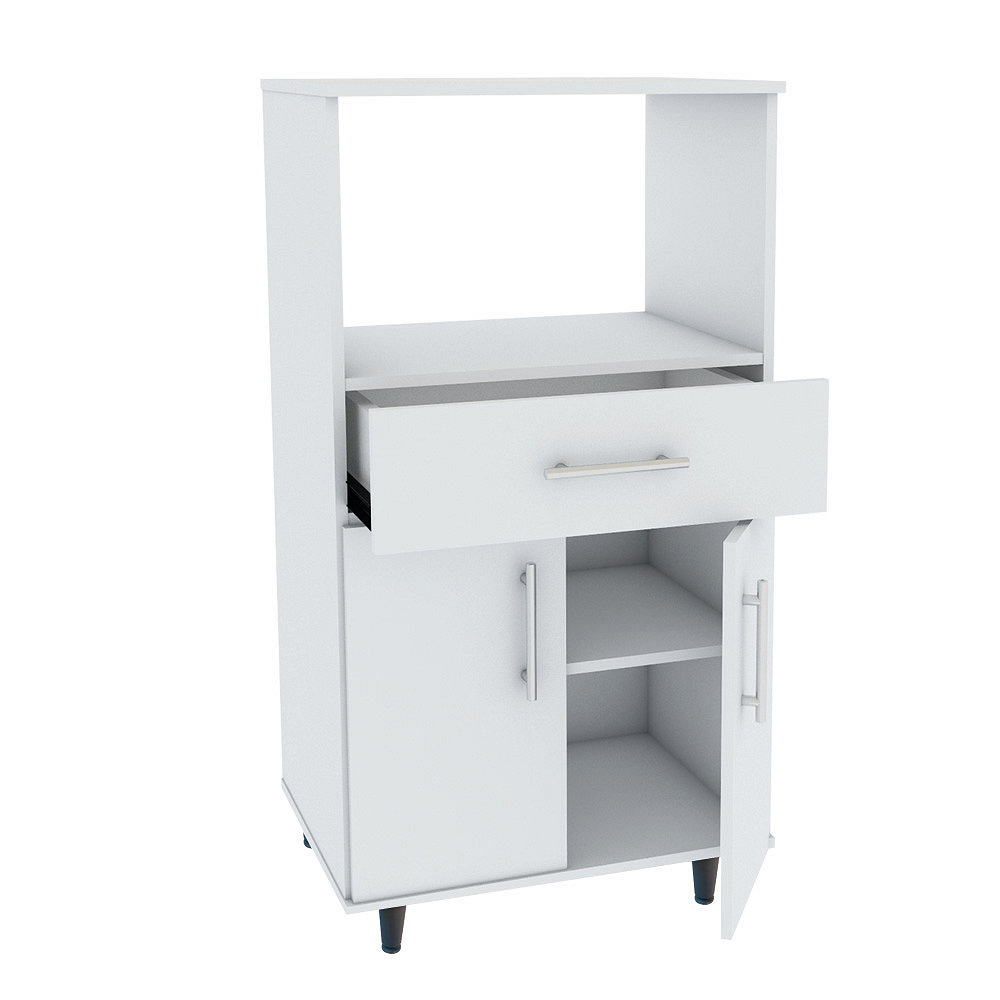 Rack Microondas 54x45x73 Blanco Easy
