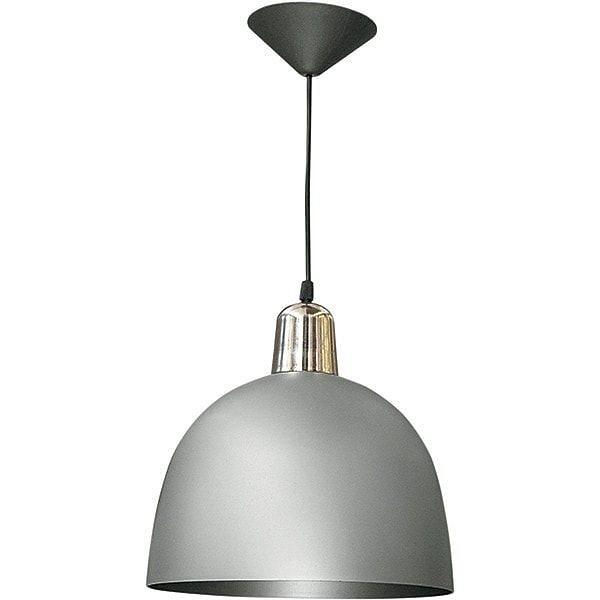 Lámpara Colgante Premium Pvc 1 Luz Galponero Gris
