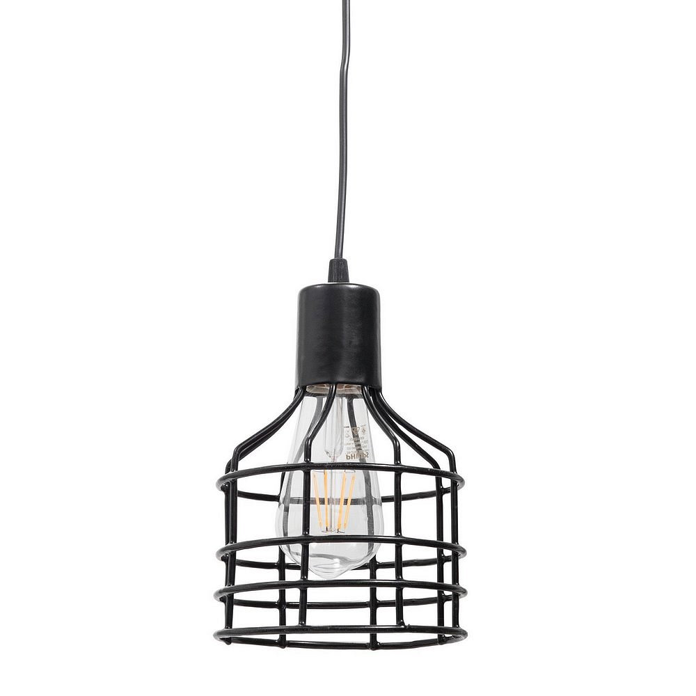 Lámpara Colgante Cage E27 15 Cm Negro