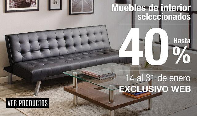 Hasta 40% en Muebles de Interior