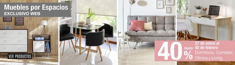Muebles por Espacio 40%