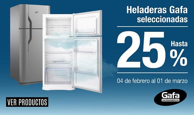 25% en Heladeras Gafa