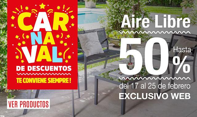 Carnaval de Descuentos en Jardín y Outdoor 50%