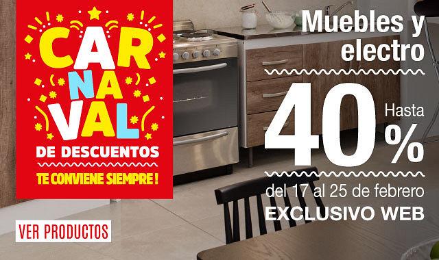 Carnaval de Descuentos en Electro y Muebles de exterior 20%
