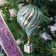 Adorno globo aerostatico con regalo