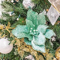Adorno flor verde